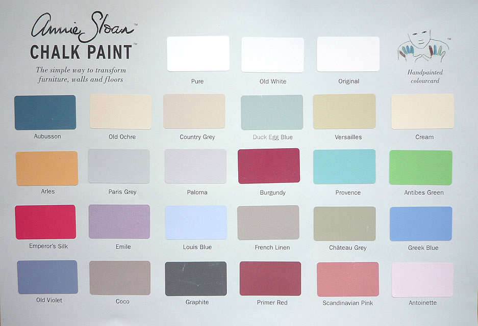 Annie Sloan Chalk Paint Color Wheel
